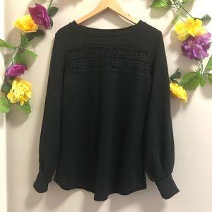 Love & Legend Sweatshirt w/ Lace Panel